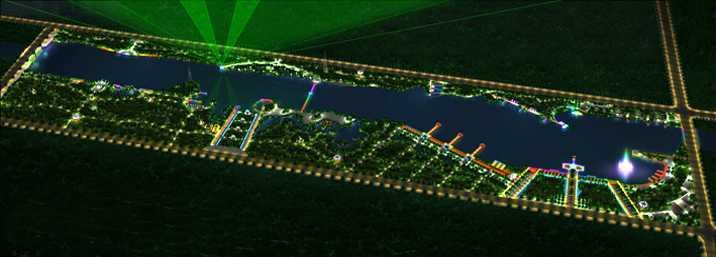 红莲湖景观照明规划