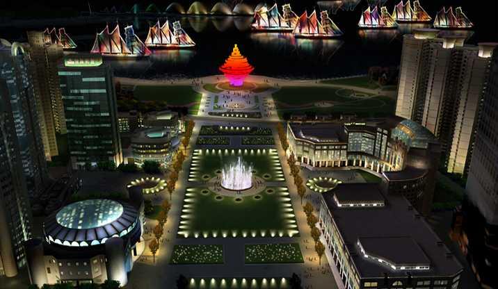 青岛广场照明规划